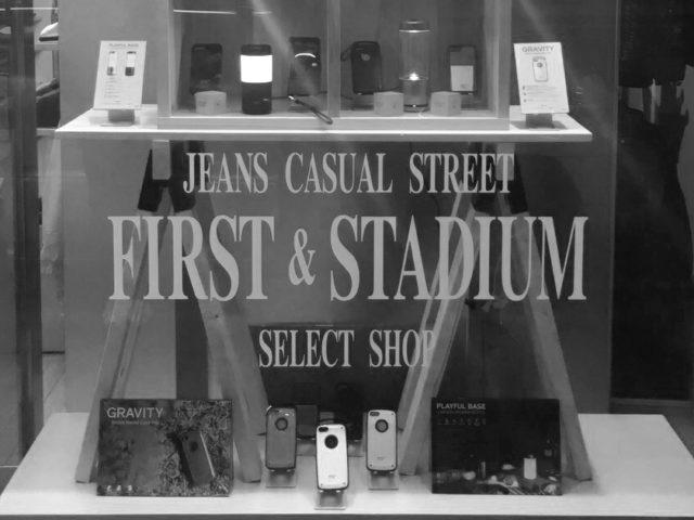 「FIRST&STADIUM」ディスプレイウィンドウにて新商品展示中です
